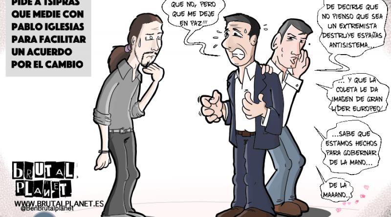 Pedro Sanchez pidió ayuda a Tsipras para que medie con Pablo Iglesias