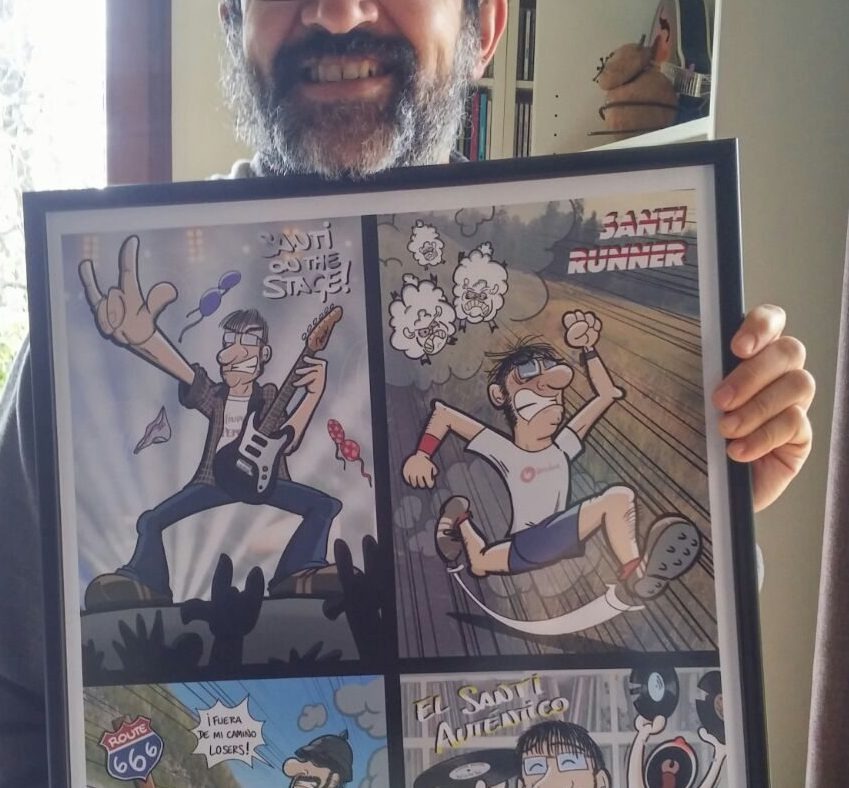 Caricatura personalizada - Las múltiples personalidades de Santi