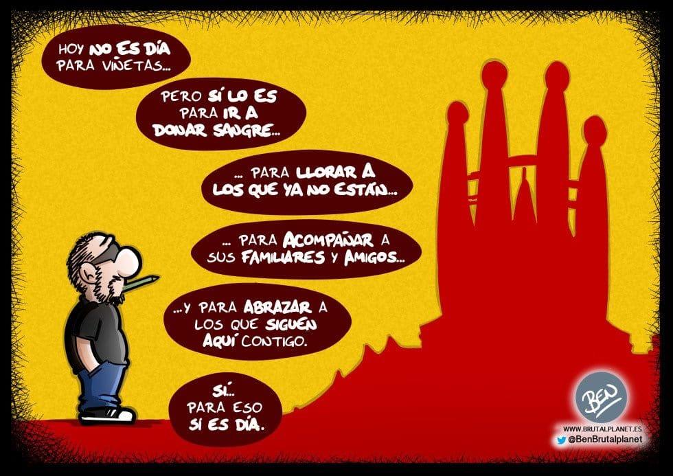 Viñeta dedicada a Barcelona 17-A