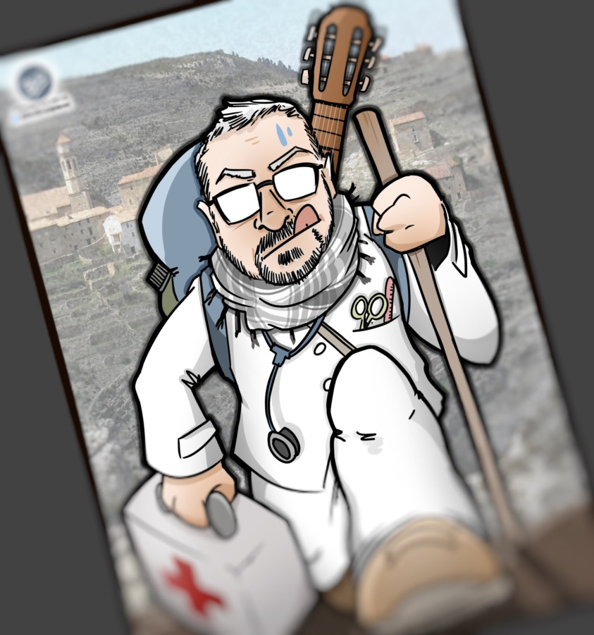 Caricatura personalizada - Enfermero Salesa