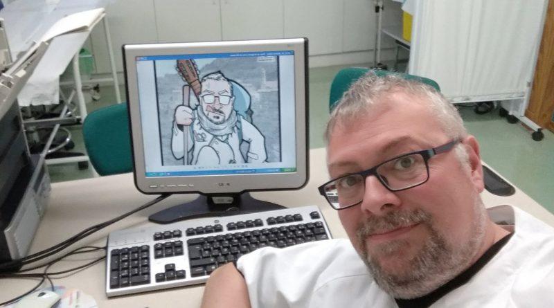 Caricatura personalizada - el enfermero rural