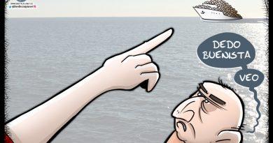 Buenismos - viñeta sobre los migrantes del barco Aquarius