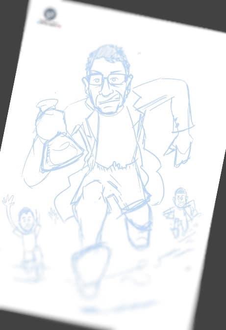 Caricatura personalizada - Regalo de cumpleaños - Científico atleta y amante de la naturaleza 1
