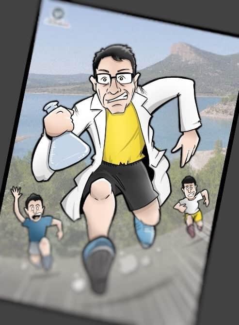 Caricatura personalizada - Regalo de cumpleaños - Científico atleta y amante de la naturaleza 3