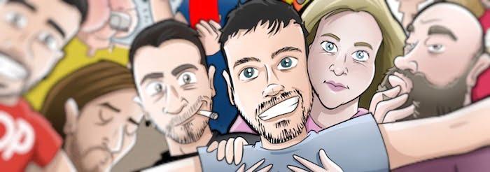 Ilustración Caricatura Personalizada - Selfie amigos