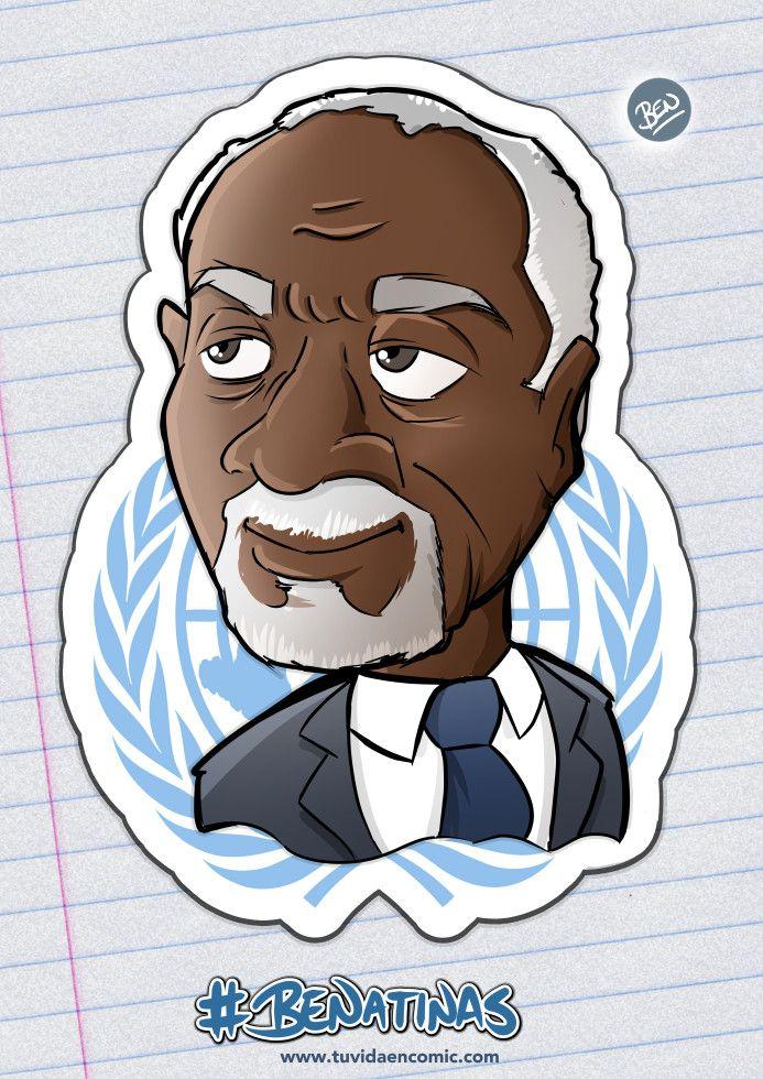 Caricatura - Kofi Annan - BENatinas - TuVidaEnComic.com