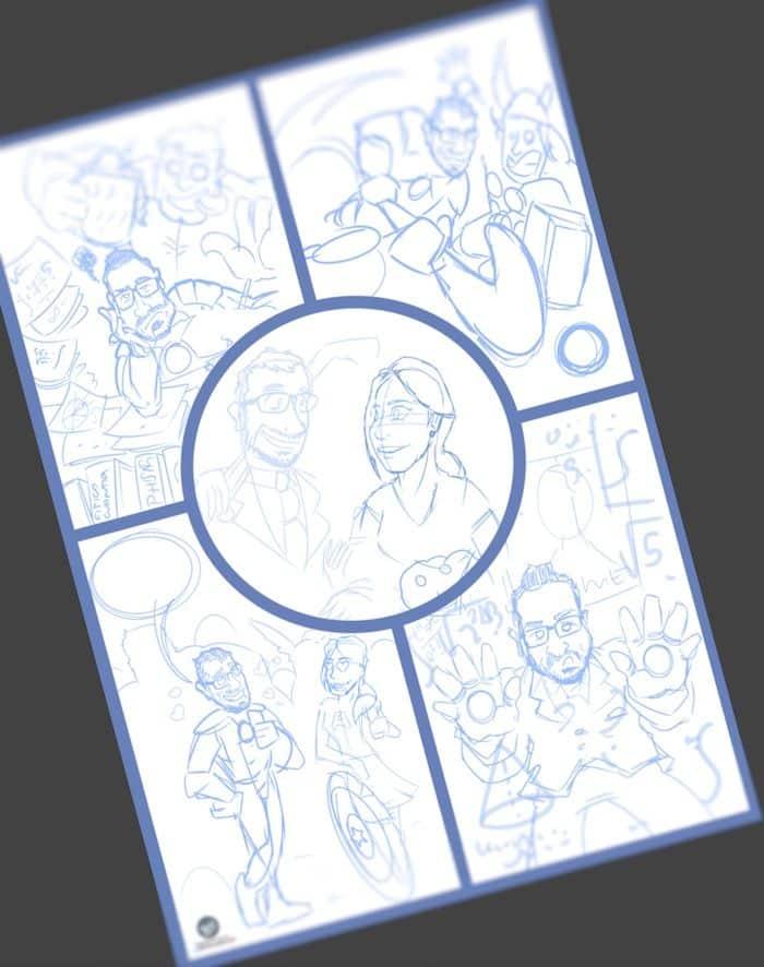 Cómic personalizado - Una historia de amor con superhéroes - tuvidaencomiccom - Tu Vida En Cómic 1