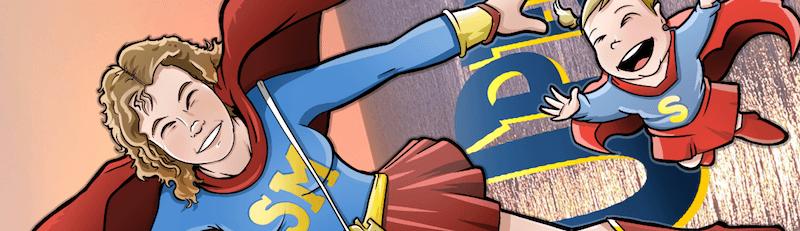 Ilustración Caricatura Personalizada - SuperMami 1