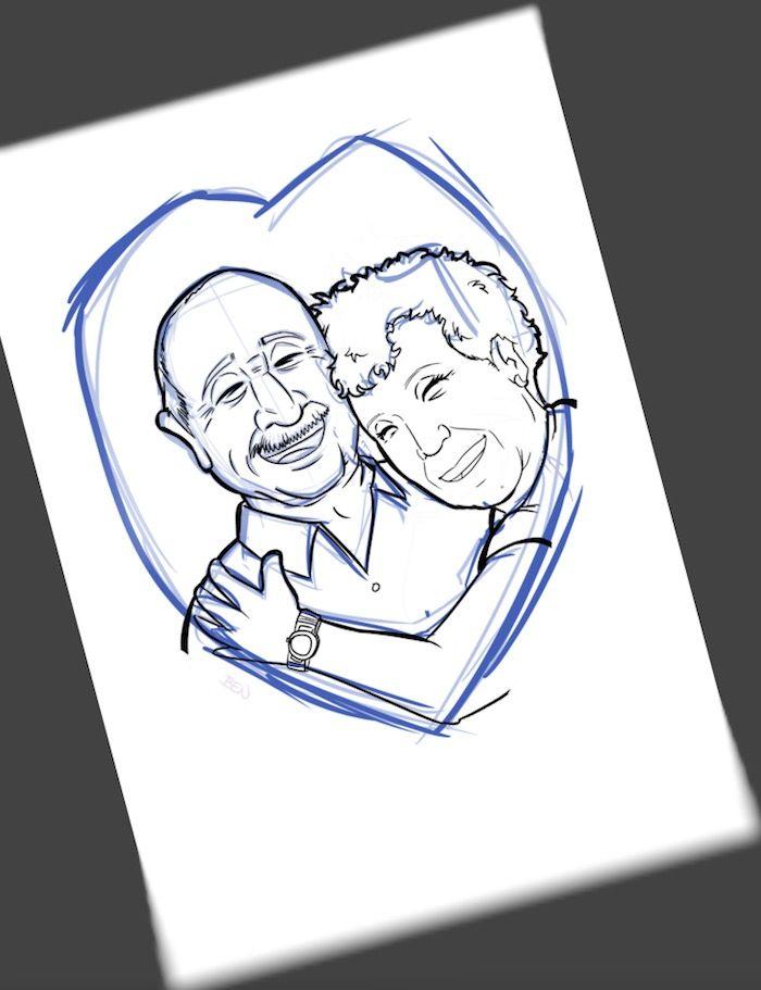 Ilustración Caricatura Personalizada - Amor que inspira - 2