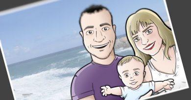 Ilustración - Caricatura Personalizada - Foto Familiar - Tu Vida En Cómic 3