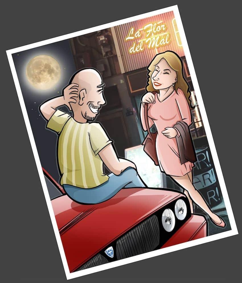 Ilustración - Caricatura Personalizada - Momentos de pareja - tuvidaencomic.com 1