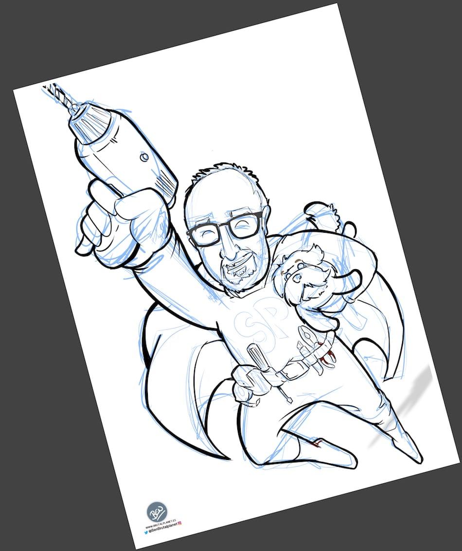 Ilustración - Caricatura personalizada - SuperPapa 2