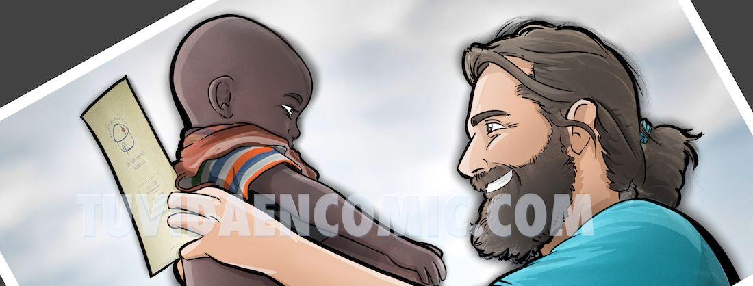 Caricatura Ilustración Personalizada - regalo para el médico de Etiopía 0