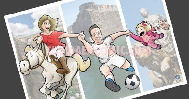 Ilustración Caricatura Personalizada - Malagueña + Ceutí = Madrileña - tuvidaencomic.com BEN 4