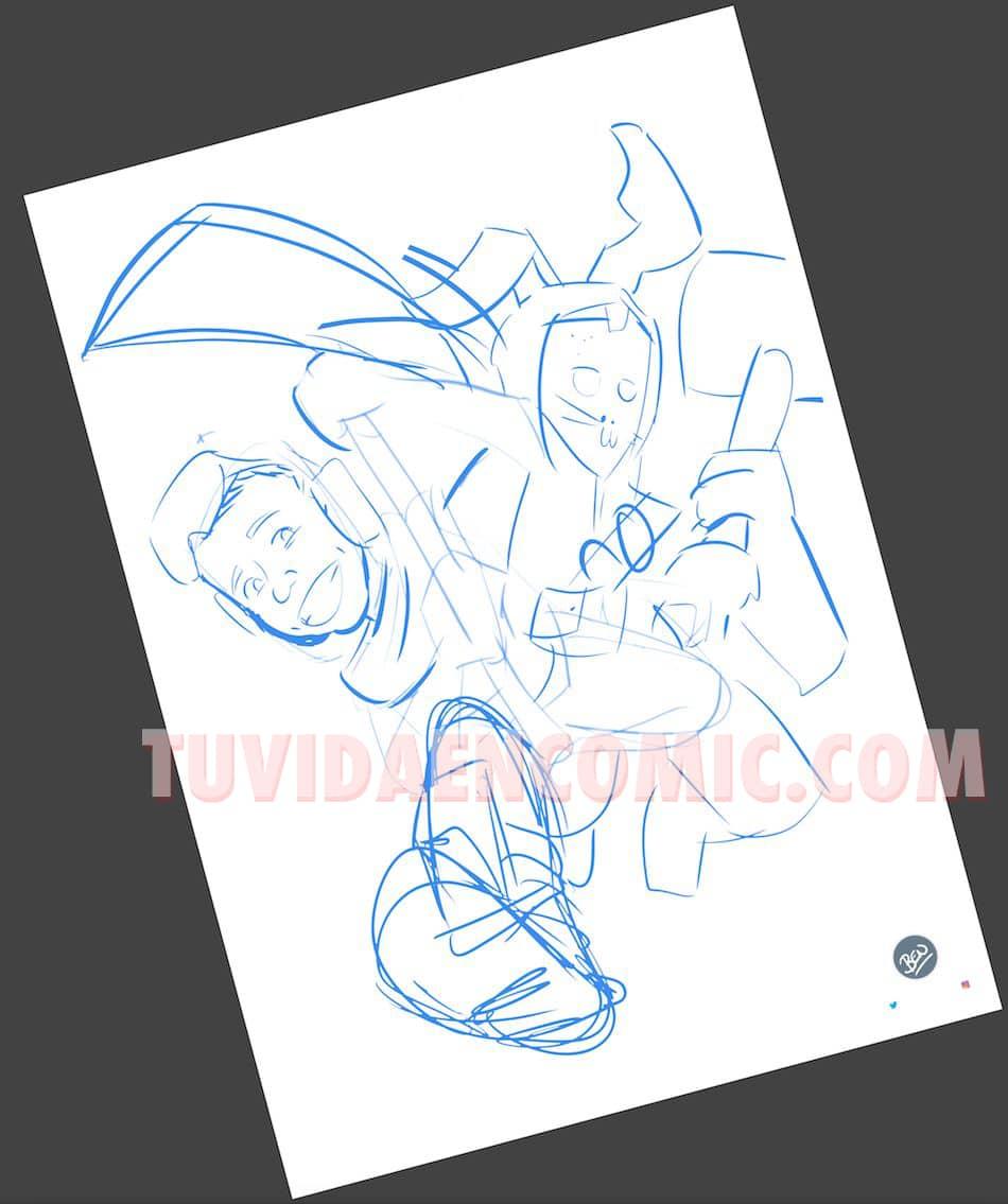 Ilustración Caricatura Personalizada - Tu Hijo y el Fortnite - tuvidaencomic.com - BEN - 1