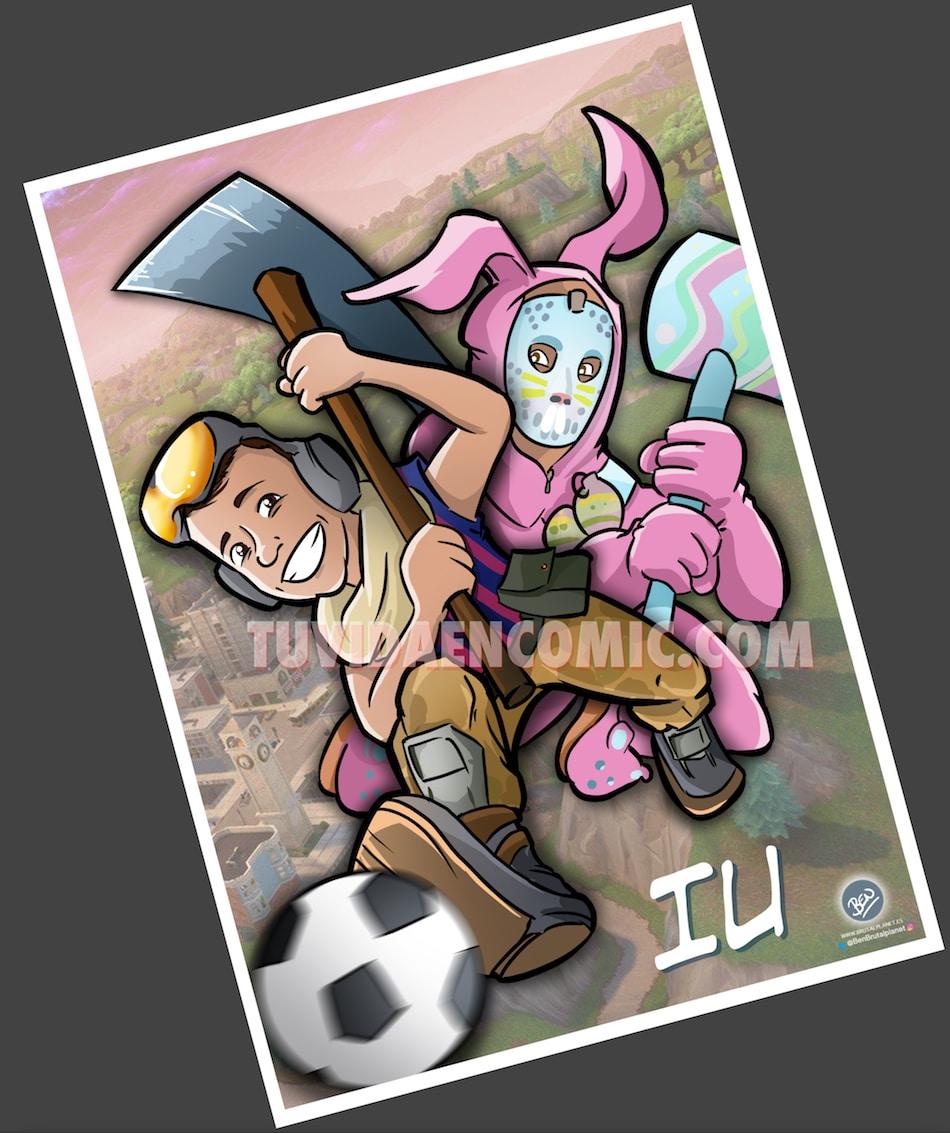 Ilustración Caricatura Personalizada - Tu Hijo y el Fortnite - tuvidaencomic.com - BEN - 4