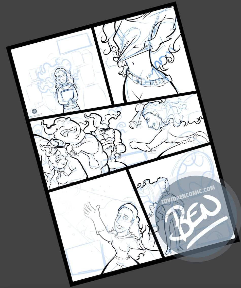Cómic Personalizado - Regalo de cumpleaños para BatGirl - Ilustración - Caricatura personalizada - tuvidaencomic.com - BEN - 2
