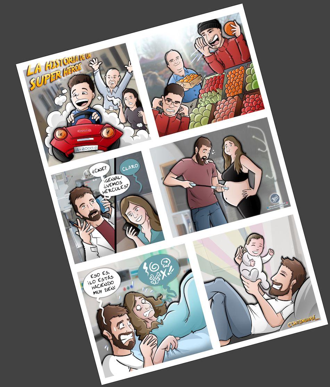 Composición Ilustración Personalizada - Historia del superhéroe de la familia - cómic personalizado - caricatura personalizada - tuvidaencomic.com - BEN - 4