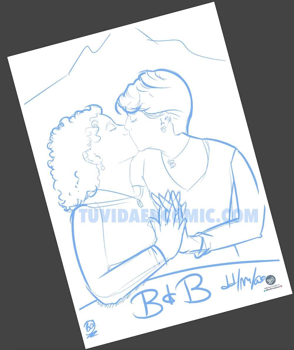 Foto Ilustración Caricatura Personalizada - Beso Inmortalizado - tuvidaencomic.com - BEN - 1
