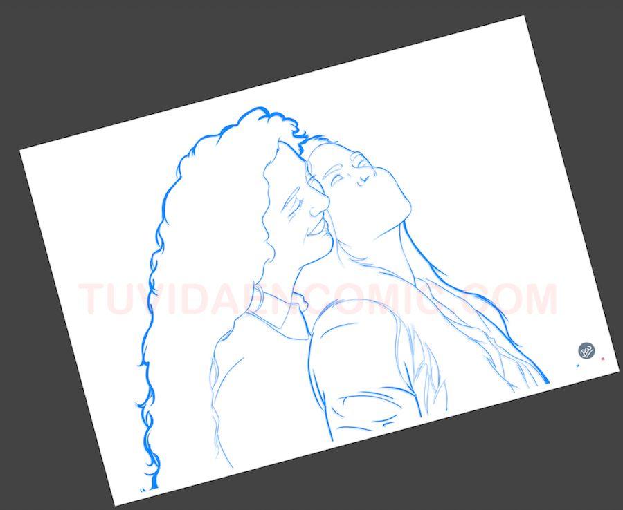 Foto Ilustración Personalizada - El Hilo Rojo - tuvidaencomic.com - BEN 1