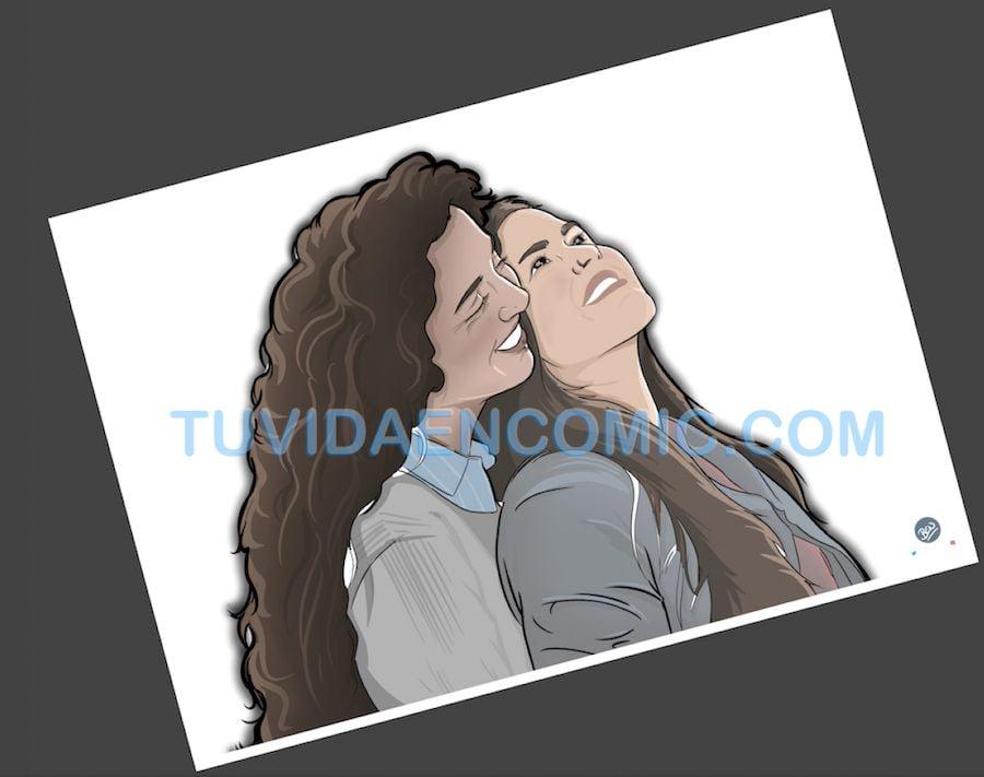 Foto Ilustración Personalizada - El Hilo Rojo - tuvidaencomic.com - BEN 2