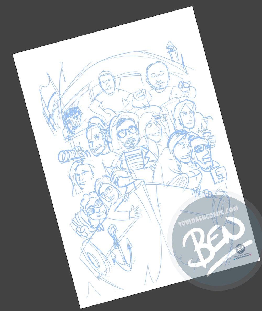 Ilustración Caricatura Personalizada - Un recuerdo para el amigo que se va - 2