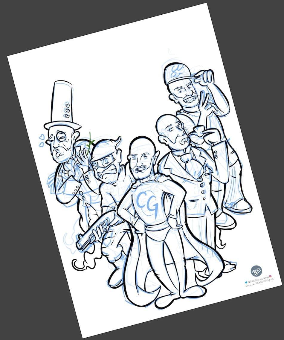 Ilustración Personalizada - Portada de cómic - personalidades - caricatura personalizada - tuvidaencomic.com - BEN - 2