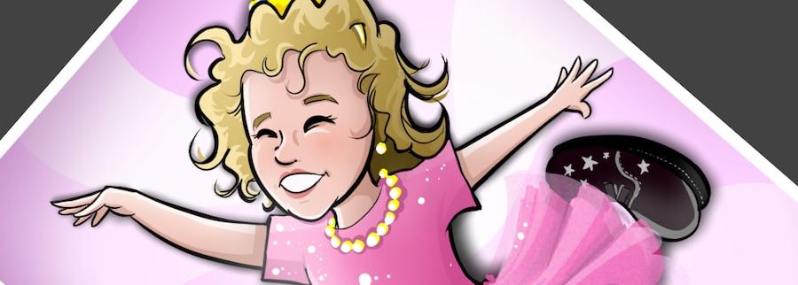 Ilustración personalizada - Afra la Bailarina - caricatura personalizada - tuvidaencomic.com - BEN - 0