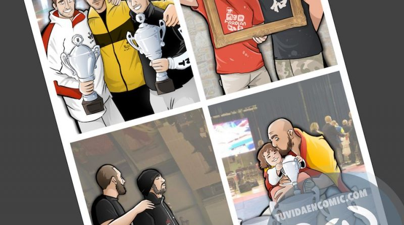 Ilustración personalizada - Inmortalizando momentos épicos - Caricatura Personalizada - tuvidaencomic.com - BEN