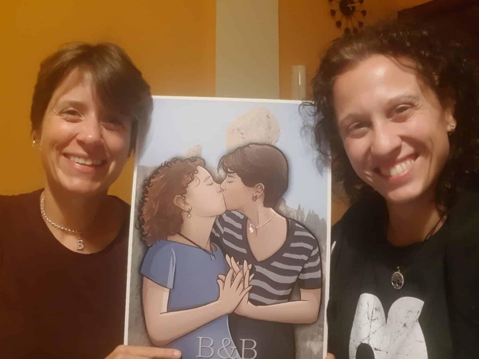 Foto Ilustración Caricatura Personalizada - Beso Inmortalizado - tuvidaencomic.com - BEN - Testimonio 2