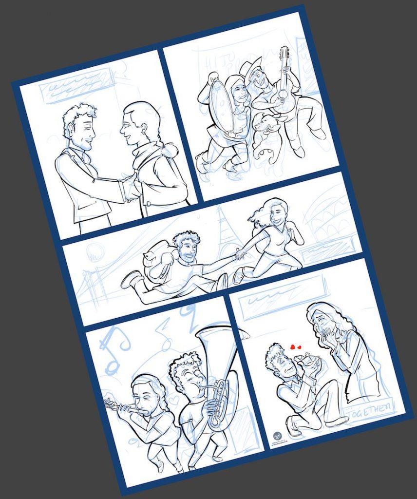 Cómic Personalizado - Historias de amor en viñetas - Caricatura personalizada - tuvidaencomic.com - BEN - 2