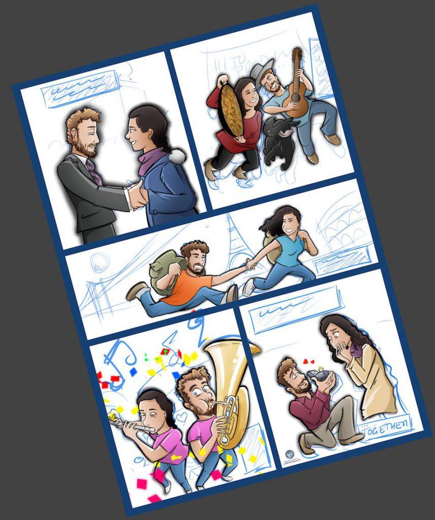 Cómic Personalizado - Historias de amor en viñetas - Caricatura personalizada - tuvidaencomic.com - BEN - 3