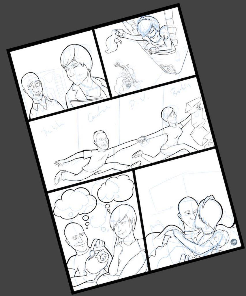 Cómic personalizado - Una historia de amor, de esas con caballeros, princesas... y gatos - Ilustración - Caricatura personalizada - tuvidaencomic.com - BEN - 2