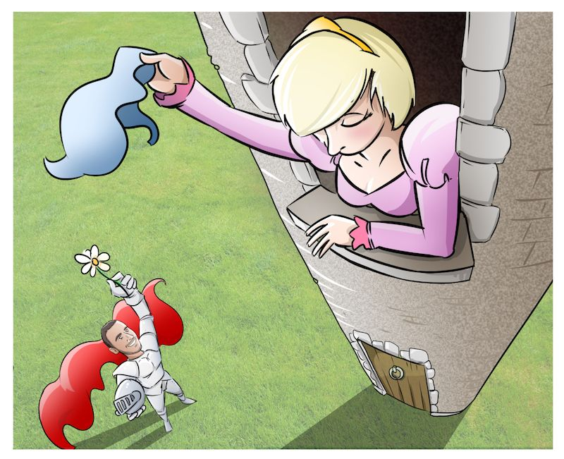 Cómic personalizado - Una historia de amor, de esas con caballeros, princesas... y gatos - Ilustración - Caricatura personalizada - tuvidaencomic.com - BEN - 6