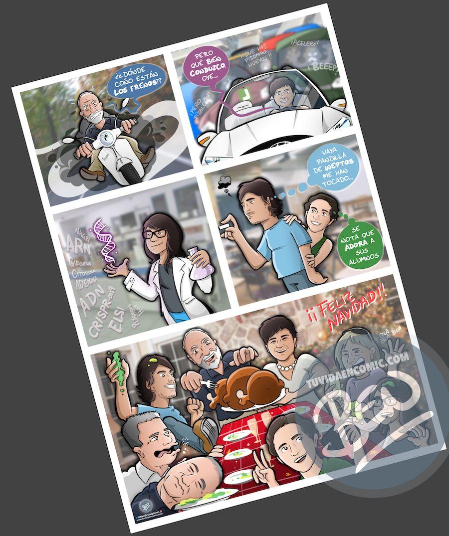Cómic personalizado - Preparando la Cena de Navidad - Caricatura personalizada - tuvidaencomic.com - BEN - 4