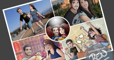 """Composición de ilustraciones – """"Estos somos nosotros"""" – Ilustración – Caricatura personalizada"""