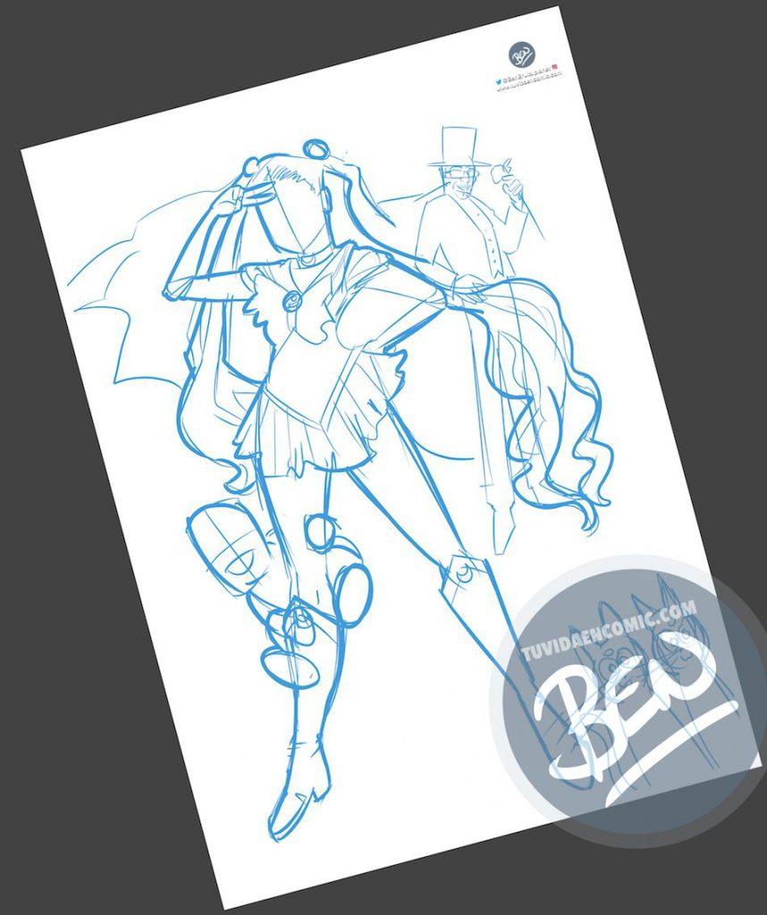 Ilustración personalizada - Cuando tu pareja es toda una Sailor Moon - Caricatura Personalizada - tuvidaencomic.com - BEN - 1