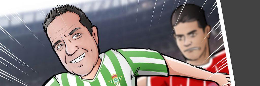 Ilustración personalizada - Viviendo los colores - fútbol - Betis - Caricatura Personalizada - www.tuvidaencomic.com - BEN - 0