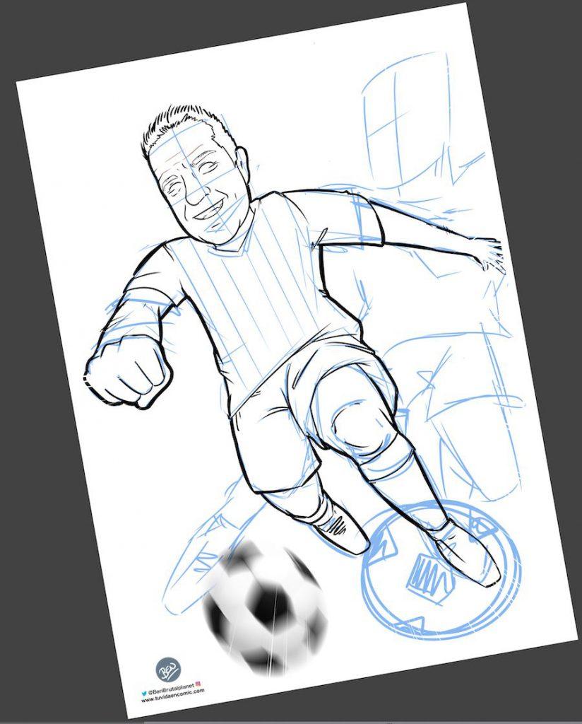 Ilustración personalizada - Viviendo los colores - fútbol - Betis - Caricatura Personalizada - www.tuvidaencomic.com - BEN - 2