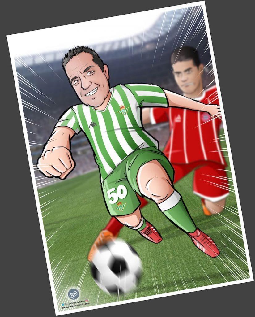 Ilustración personalizada - Viviendo los colores - fútbol - Betis - Caricatura Personalizada - www.tuvidaencomic.com - BEN - 4