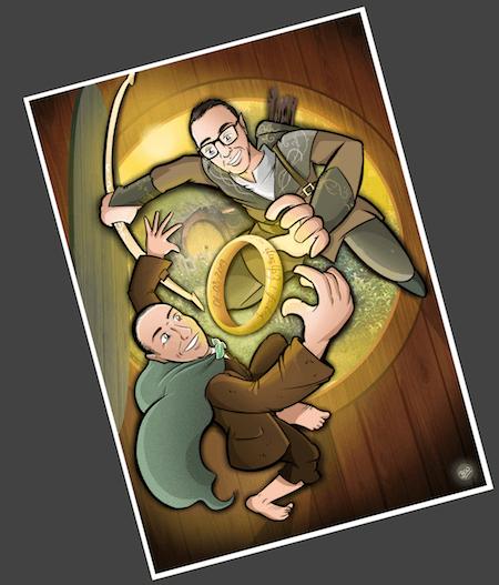 Ilustración personalizada - El Señor de los Anillos - fútbol - Betis - Caricatura Personalizada - www.tuvidaencomic.com - BEN - Testimonio