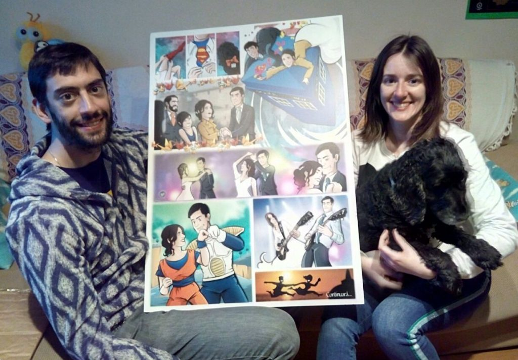 """Cómic personalizado - """"Coge la Tardis, que nos vamos de boda"""" - Ilustración - Caricatura personalizada - www.tuvidaencomic.com - BEN - 0 Testimonio"""