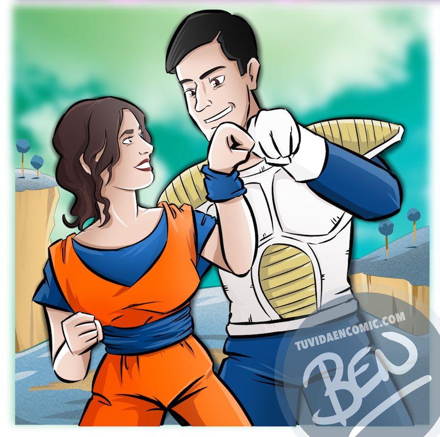 """Cómic personalizado - """"Coge la Tardis, que nos vamos de boda"""" - Ilustración - Caricatura personalizada - www.tuvidaencomic.com - BEN - 5"""
