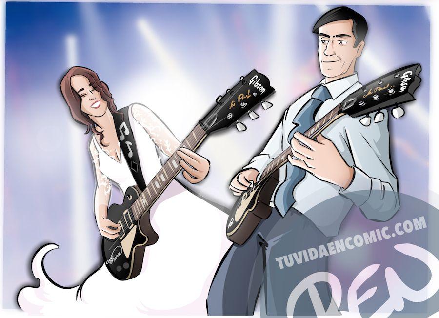 """Cómic personalizado - """"Coge la Tardis, que nos vamos de boda"""" - Ilustración - Caricatura personalizada - www.tuvidaencomic.com - BEN - 6"""
