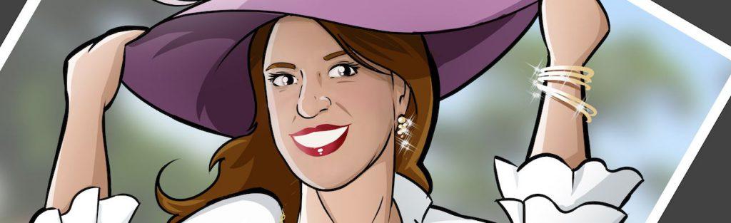 Ilustración personalizada - Todo glamour, que nos vamos de boda - Caricatura Personalizada - tuvidaencomic.com - BEN - 0