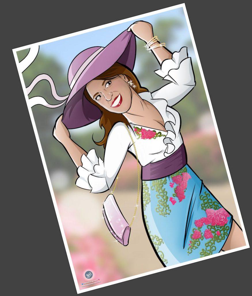 Ilustración personalizada - Todo glamour, que nos vamos de boda - Caricatura Personalizada - tuvidaencomic.com - BEN - 4