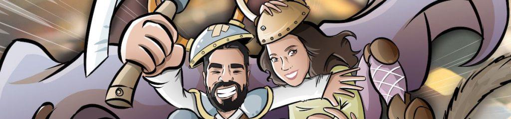 Ilustración personalizada - Un tapete personalizado para tus juegos de mesa - Caricatura Personalizada - www.tuvidaencomic.com - BEN - 0A