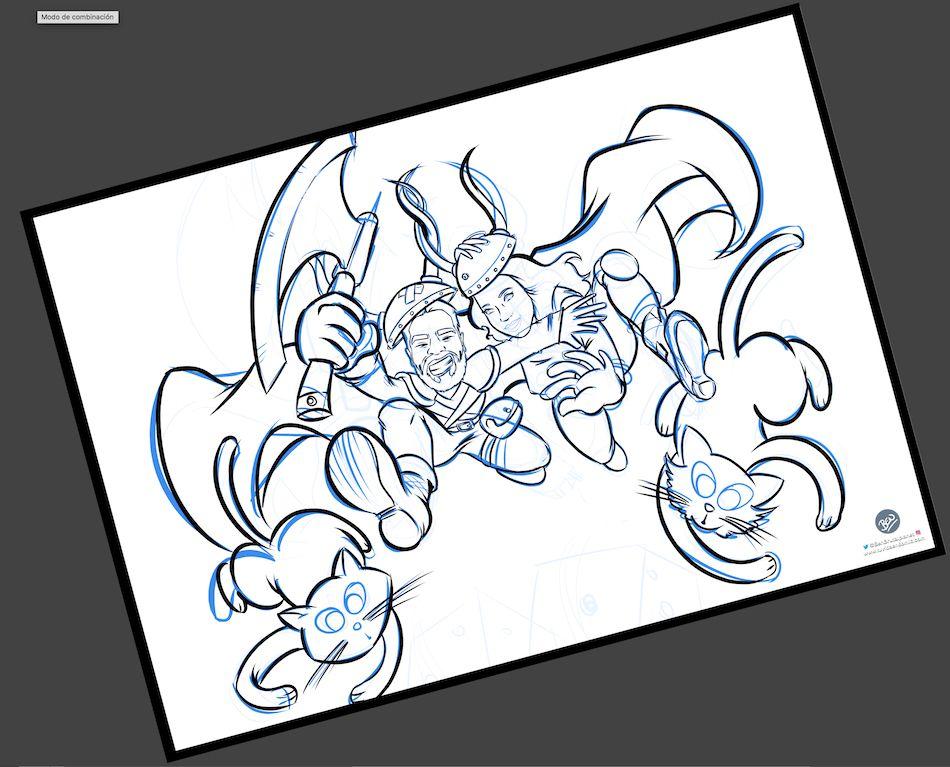 Ilustración personalizada - Un tapete personalizado para tus juegos de mesa - Caricatura Personalizada - www.tuvidaencomic.com - BEN - 2