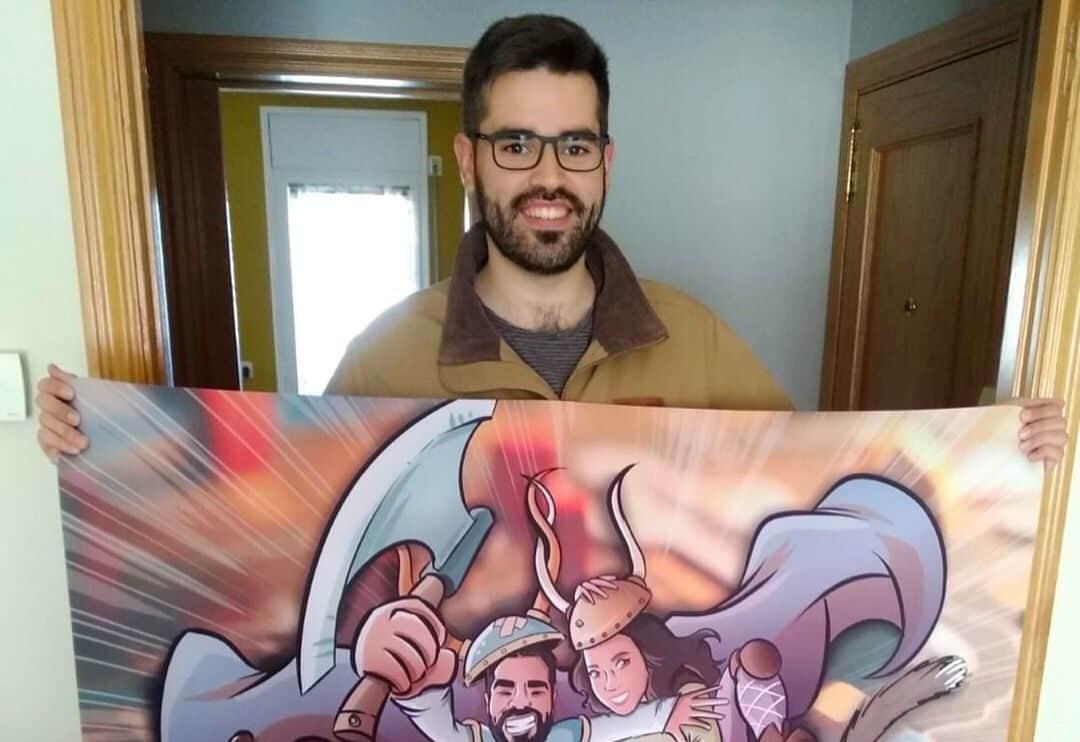Ilustración personalizada - Un tapete personalizado para tus juegos de mesa - Caricatura Personalizada - www.tuvidaencomic.com - BEN - Testimonio