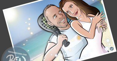 Invitación de boda personalizada y original - Ilustración : Caricatura personalizada - www.tuvidaencomic.com - BEN - 1